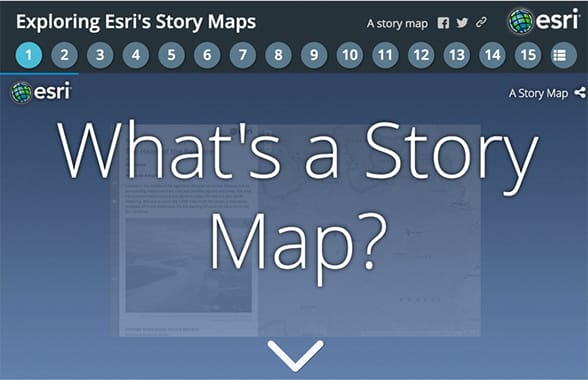 Tell Your Story Using A Map The ArcGIS Book - Esri story maps