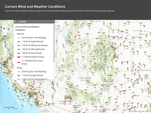the national weather service publishes a series of real time data feeds that can be readily consumed in arcgis and used to drive custom applications