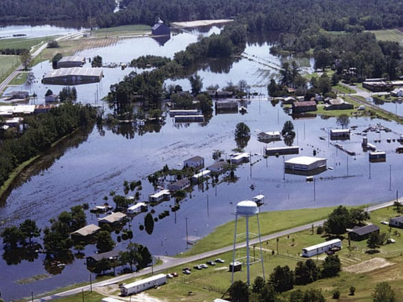 Flooding in Edgecomb County, North Carolina