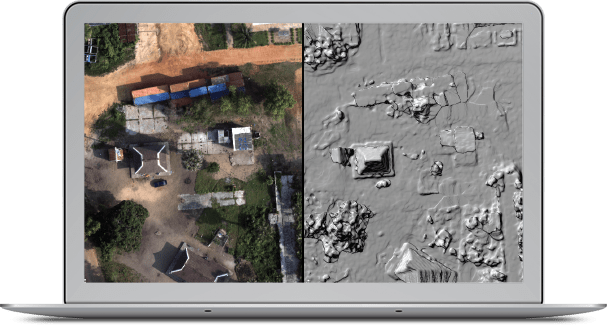 06 creating mirror worlds the arcgis imagery book collected with a consumer grade drone and processed through drone2map this side by side view shows what the digital surface model looks like compared to a sciox Gallery