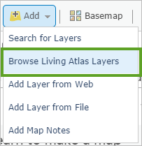 Browse Living Atlas Layers