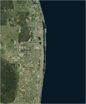 Palm Beach County with Imagery basemap