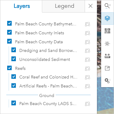 Layers list