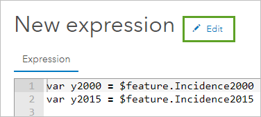 Editing the expression name
