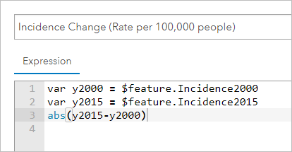 Edited script to calculate amount of change in incidence rate