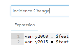 Rename the expression IncidenceChange.