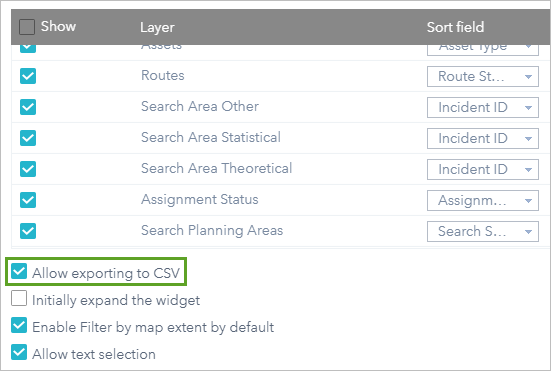 Allow exporting to CSV option