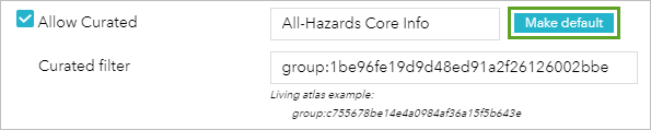 Make default for curated group
