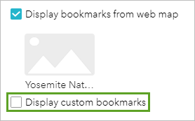 Display custom bookmarks parameters